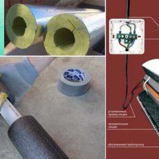 Как утеплить водопроводную трубу в земле своими руками