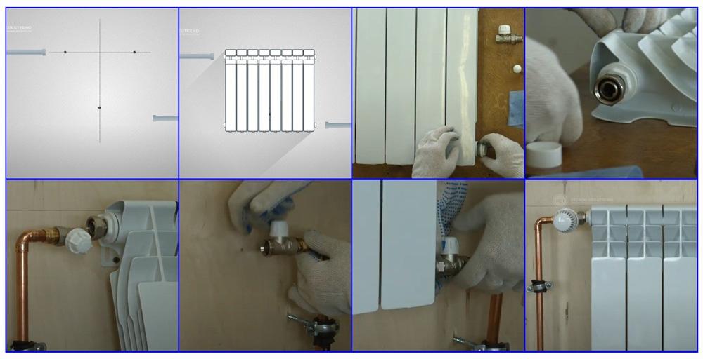 Основные этапы подключения биметаллических радиаторов отопления