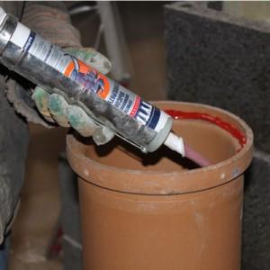 герметизация труб при помощи герметика