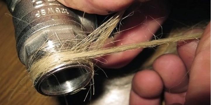 Герметизация соединения труб