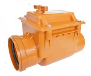 Горизонтальный обратный клапан из ПВХ для наружной канализации