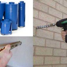 Как в кирпичной стене сделать отверстие под трубу