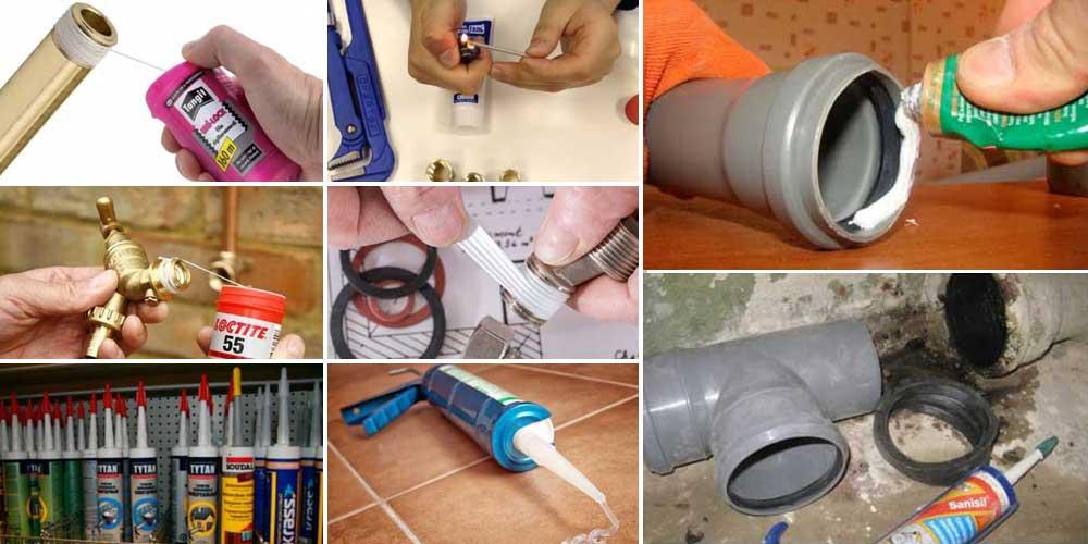 Герметик на трубы канализации и водоснабжения