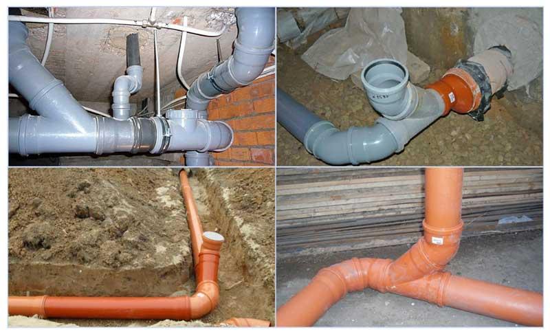 Отвод канализационный из пластика