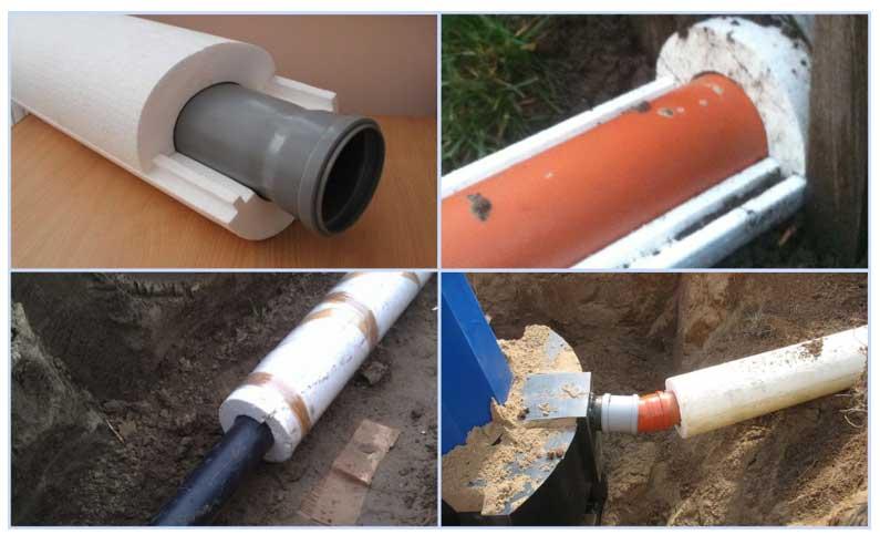 Утепление наружной канализации пенопластом
