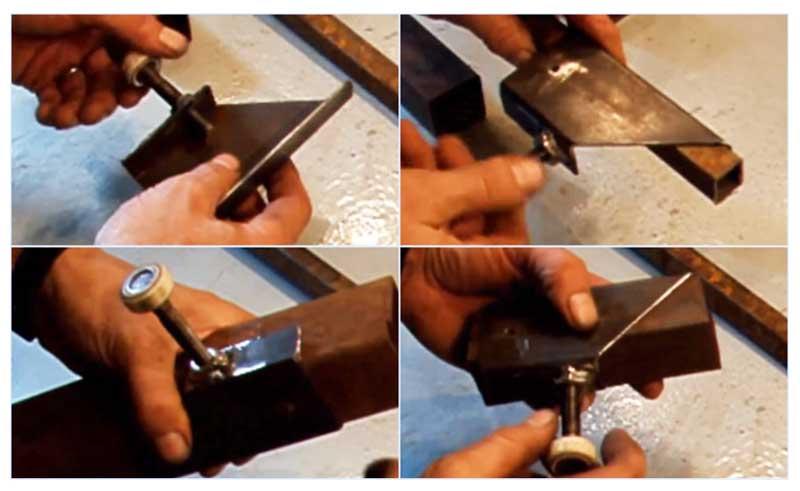 Стальной шаблон для разметки разреза трубы