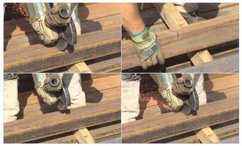 Как разрезать профильную трубу поперек