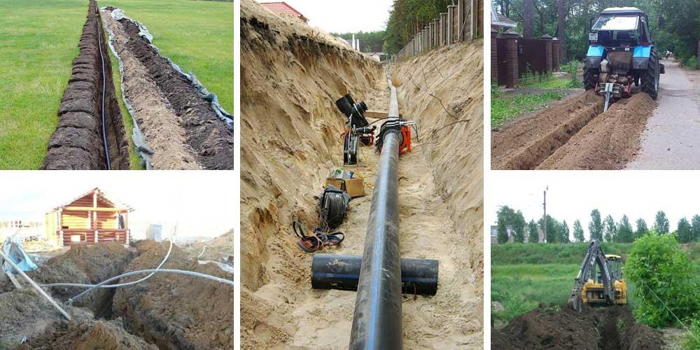 На какую глубину закапывать водопроводную трубу в частном доме