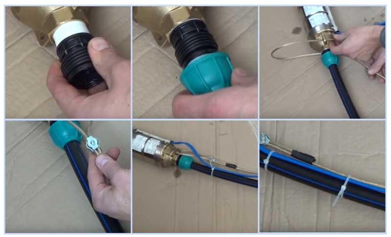Подготовка к монтажу скважинного насоса в источник