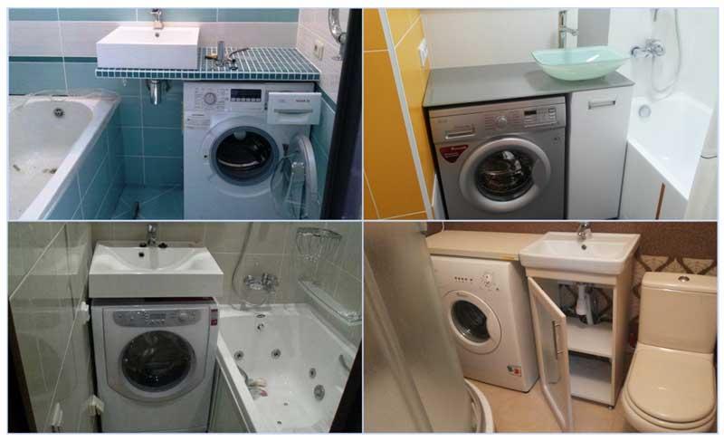 Подключение стиральной машины в ванной
