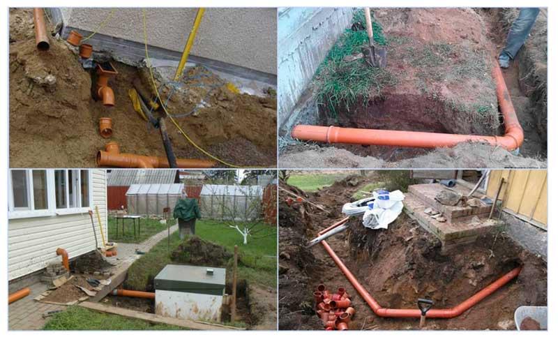 Примеры прокладки канализации в частном доме