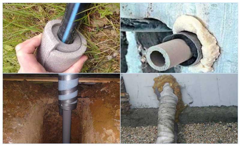 Теплоизоляция подводки водопровода к дому