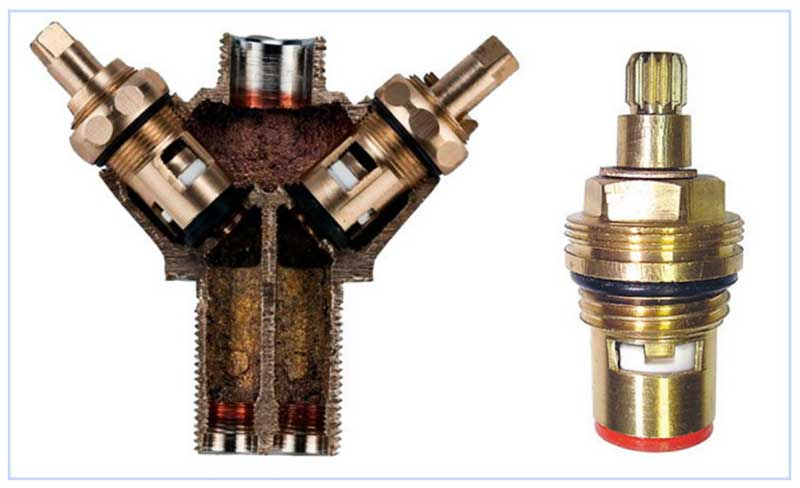 Кран-буксы на вентиле смесителя