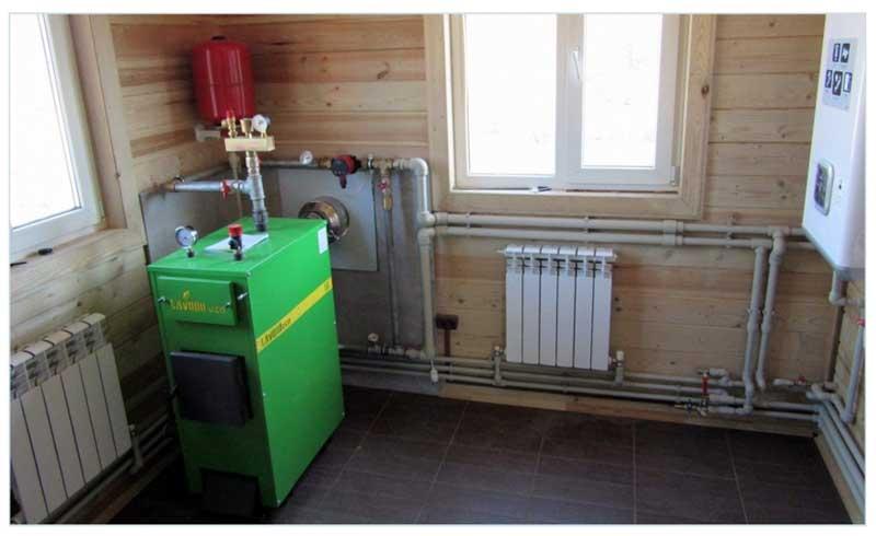Пример размещения отопительного оборудования
