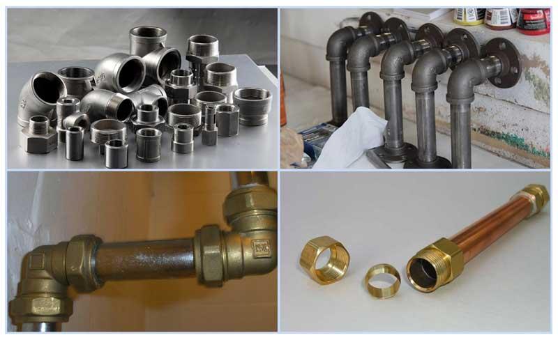 Стальные и медные газовые трубы