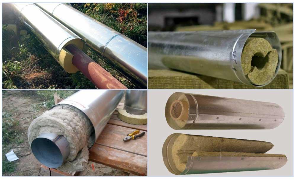 Применение защитных кожухов для труб из оцинкованной стали