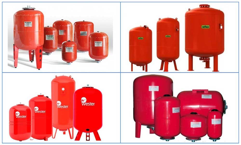 Гидробаки для отопительных систем популярных брендов
