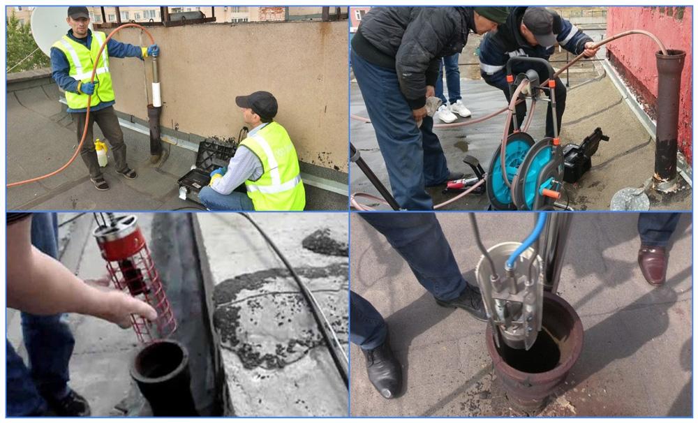 Установка и снятие заглушек с канализации