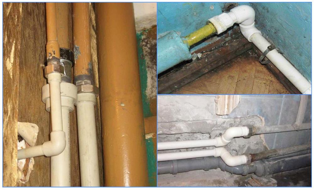 Как соединить пластиковую трубу с металлической