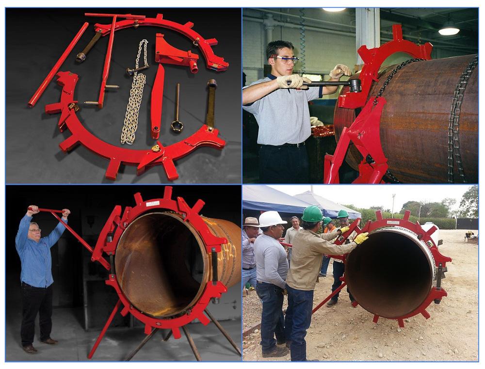 Резка стальных труб большого диаметра