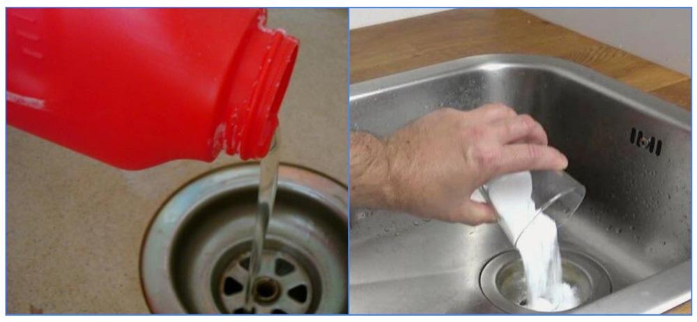 Применение очистителя Крот для прочистки канализации