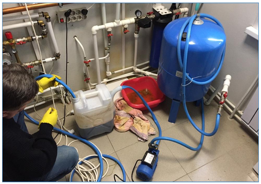 Промывка системы отопления если в трубах отопления журчит вода
