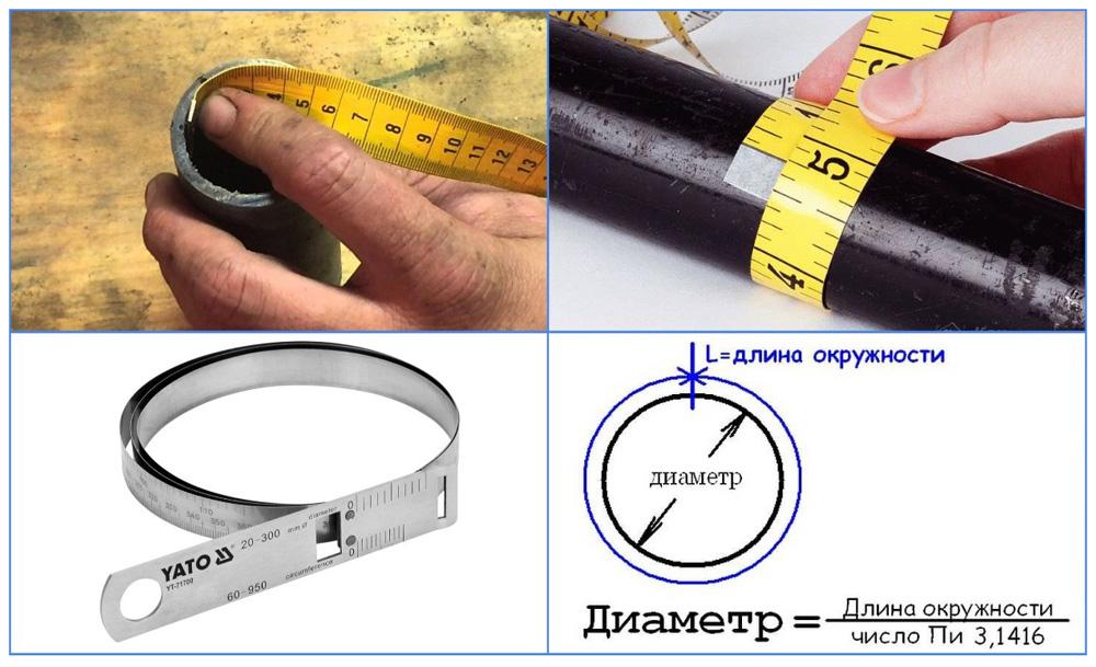 Как измерить диаметр трубы при помощи циркомера
