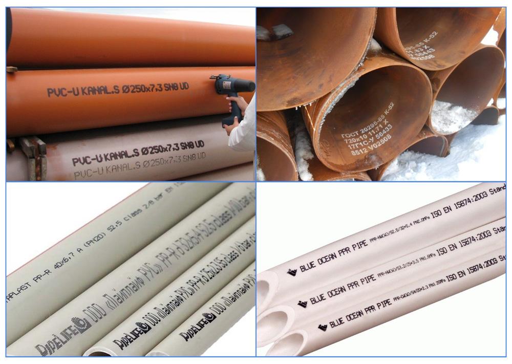 Маркировка труб из различных материалов