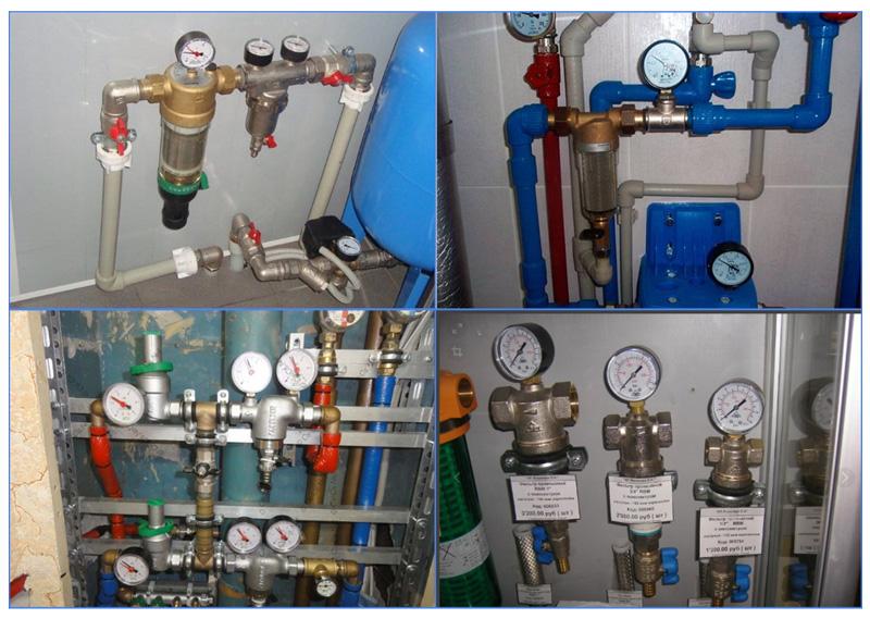 Манометры в бытовых системах для определения давление воды в водопроводе