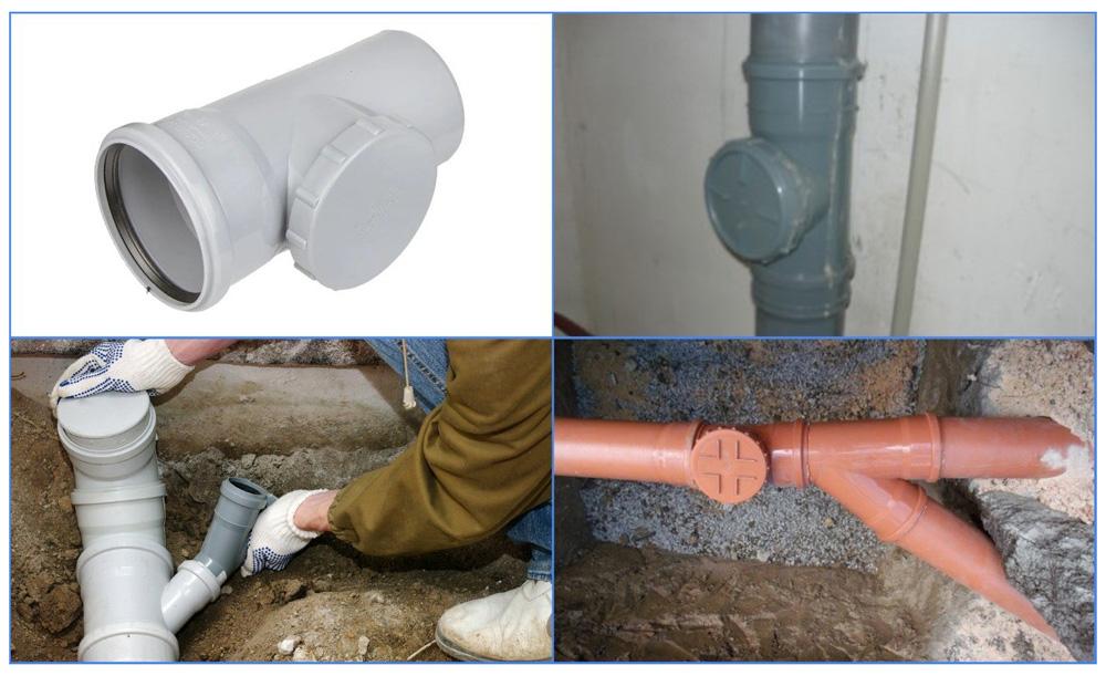 Применение и монтаж канализационных ревизий