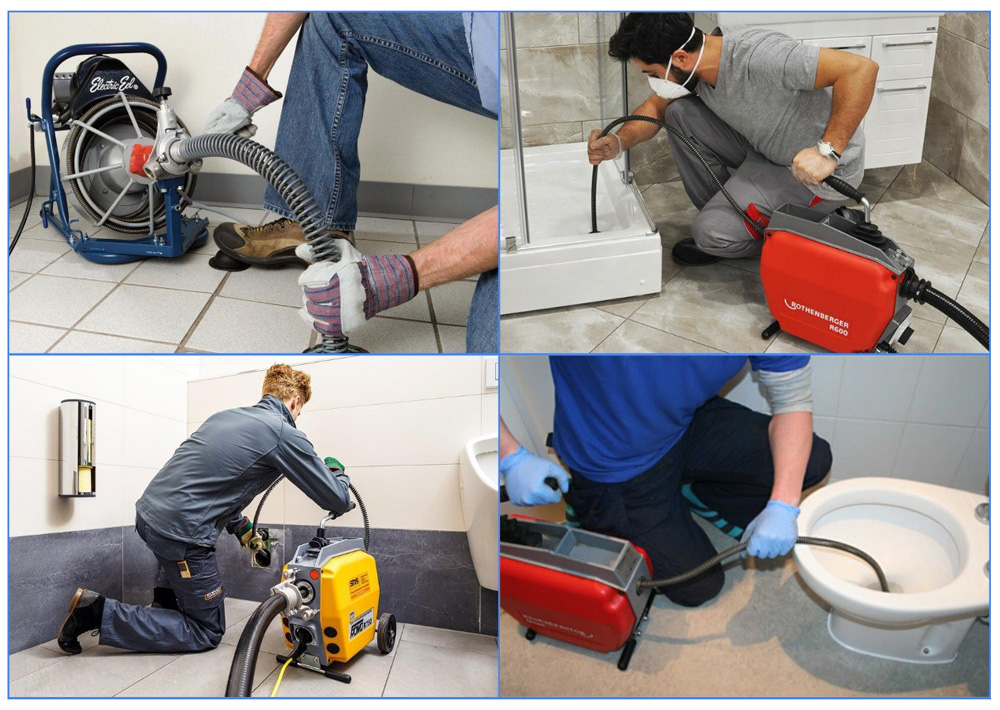 Прочистка канализации профессиональными электромеханическими установками