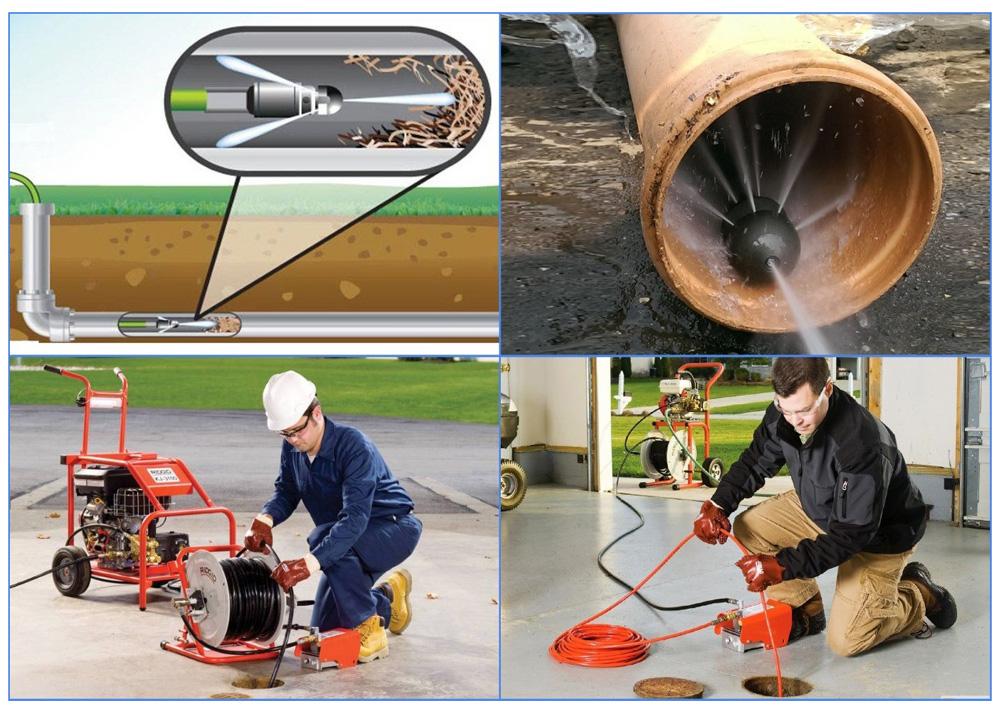 Гидродинамические установки для устранения засоров канализации