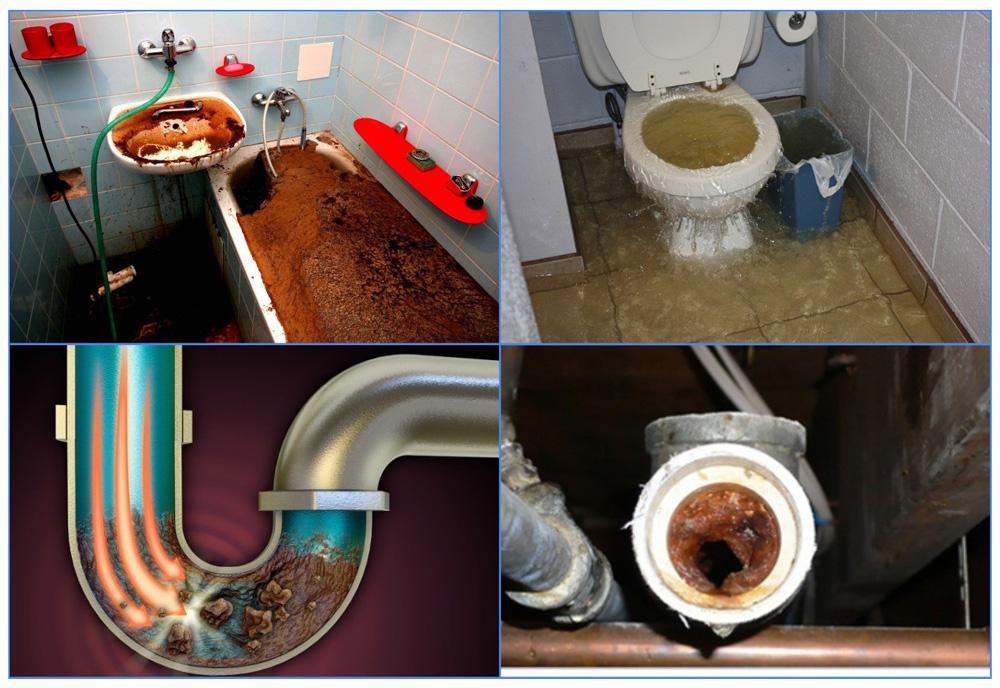 Виды засоров канализации частном доме