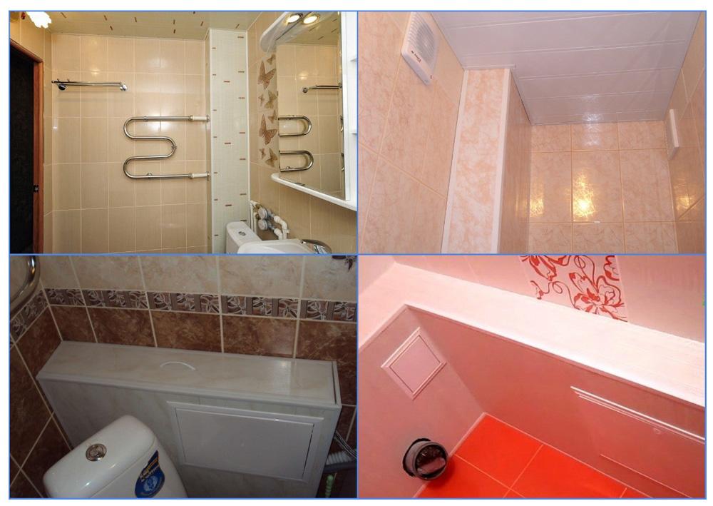 Короб для труб в ванной из панелей ПВХ
