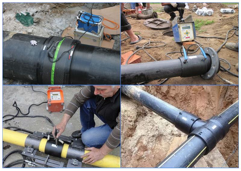 Электромуфтовая сварка газовых труб из полиэтилена