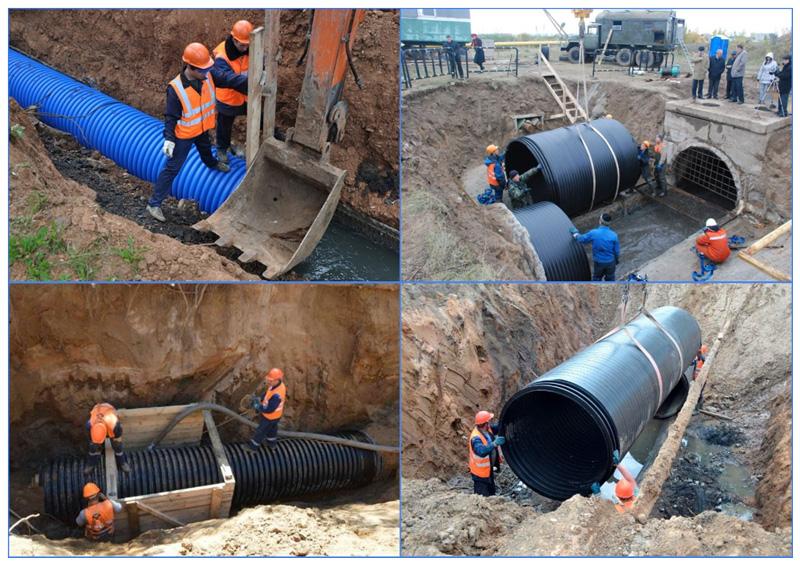 Прокладка ТРУБ дождевой канализации