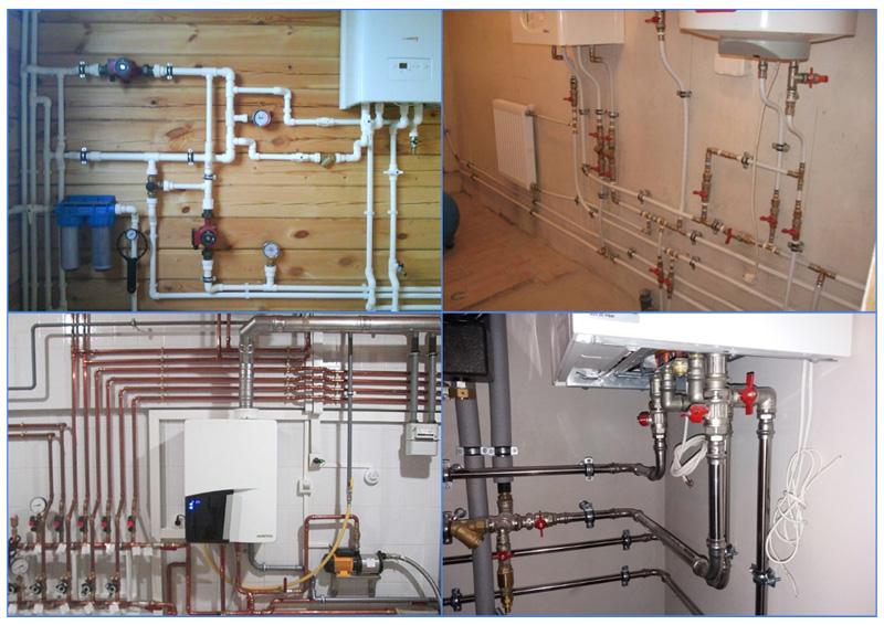 Подключение котла к системе отопления различными способами