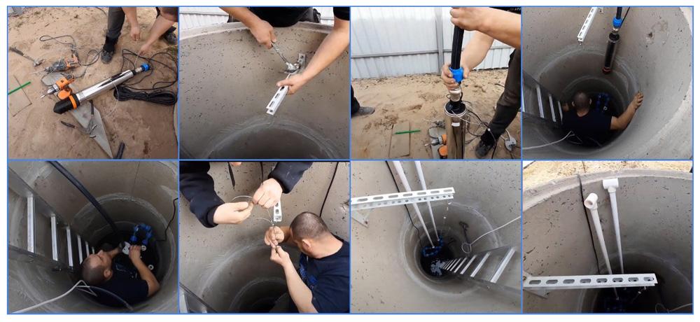 Монтаж погружного насоса в колодец – основные этапы