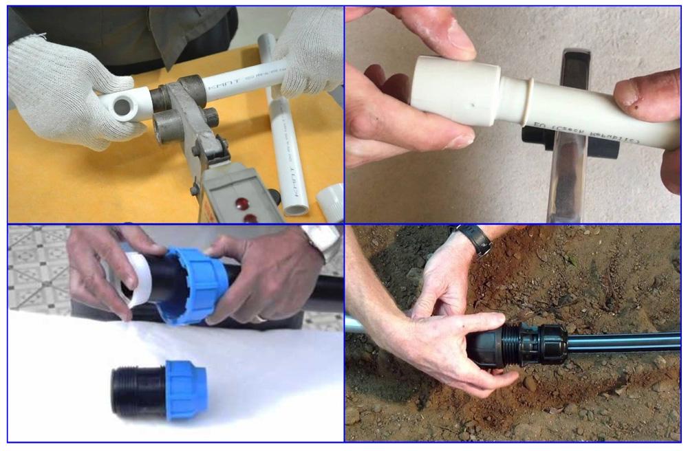 Монтаж труб из полипропилена и полиэтилена