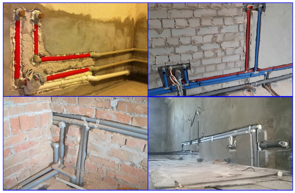 Примеры канальной прокладки ПП-труб в трубной и тепловой изоляции