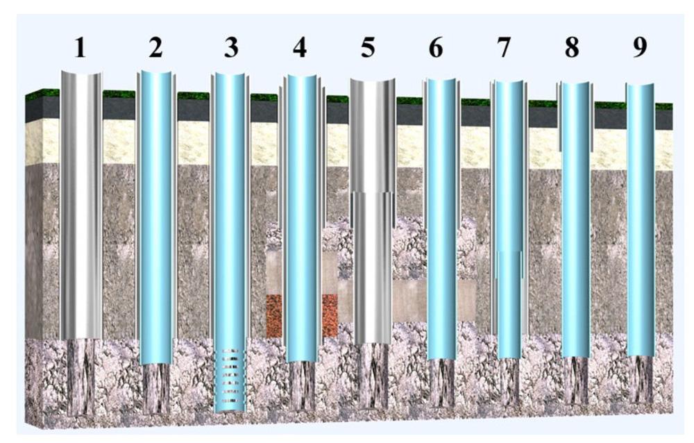 Схемы обсадочных колонн