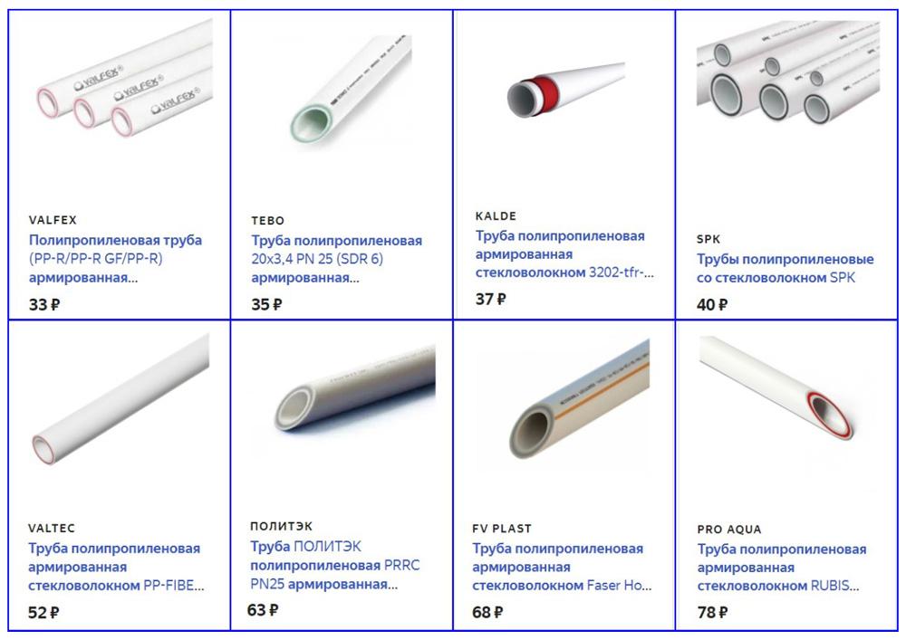 Стоимость армированных 25 мм труб от разных производителей