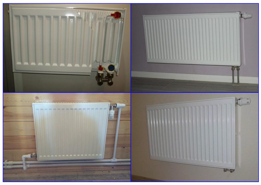 Панельные радиаторы в двухтрубной системе отопления.