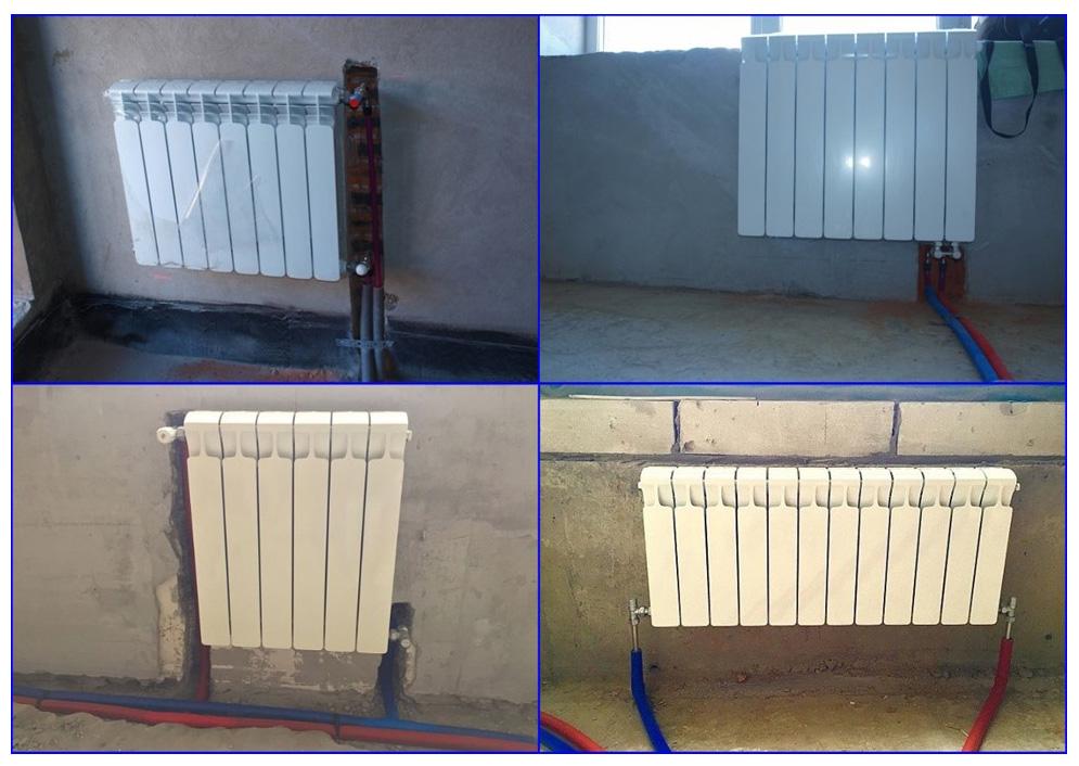 Биметаллические и алюминиевые радиаторы в двухтрубной системе отопления.