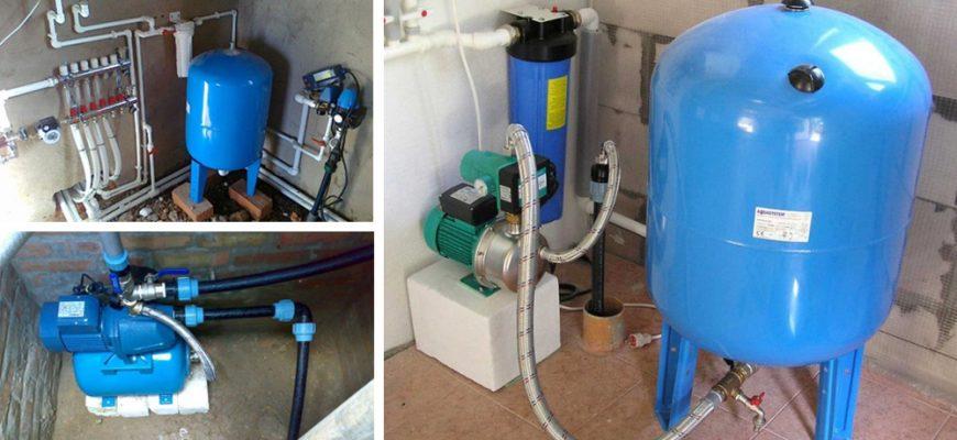 Схема водоснабжения частного дома от скважины с гидроаккумулятором