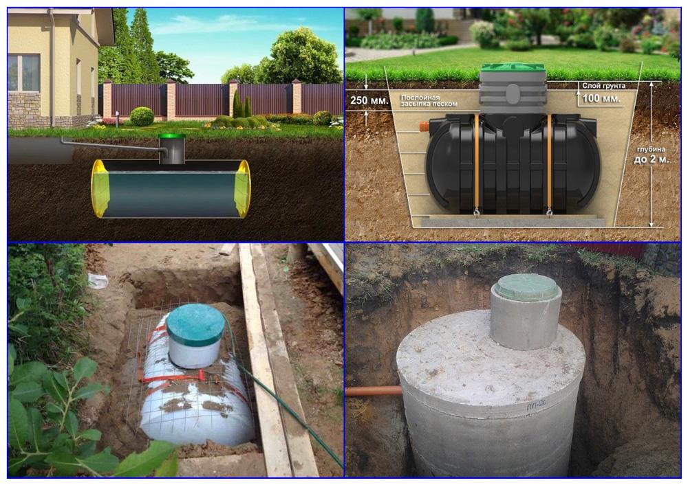 Накопительные емкости для автономной канализациию