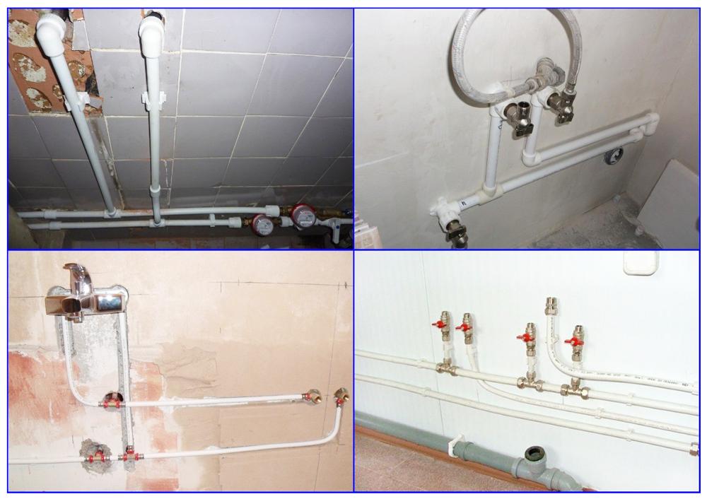 Водопроводы из полипропилена и металлопластика.