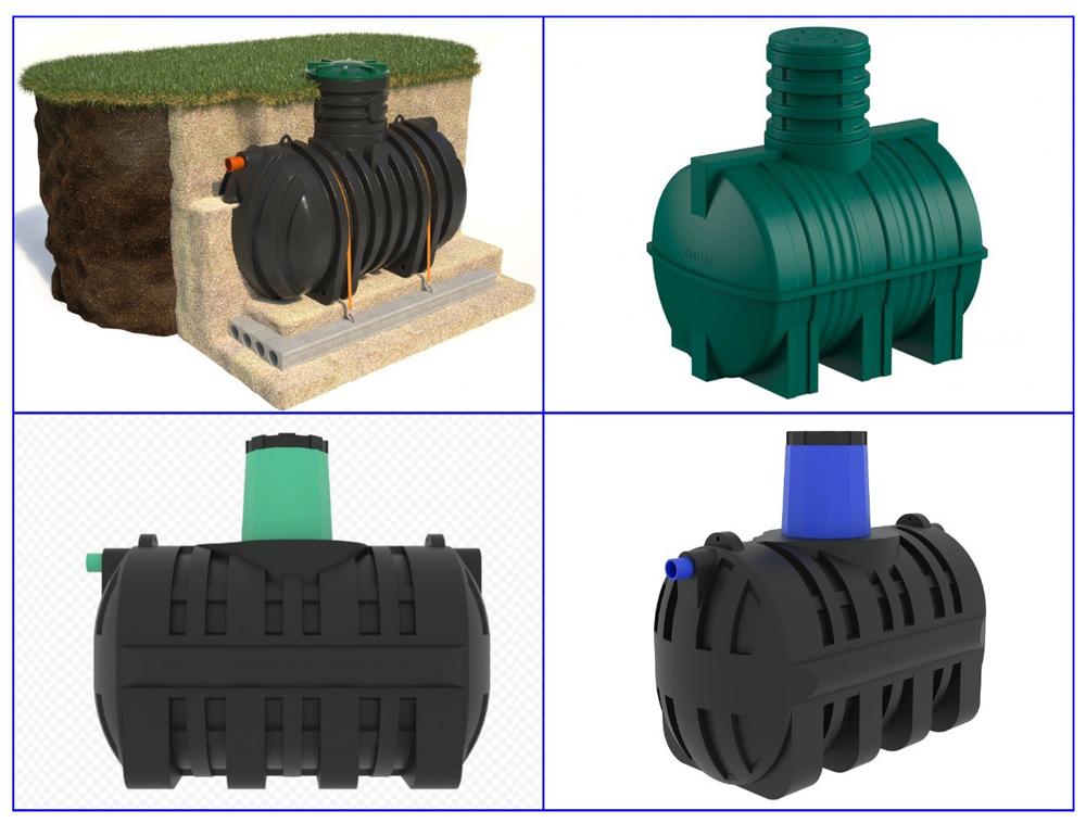 Пластиковые емкости для канализации.