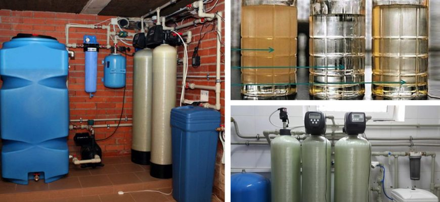 Фильтры для очистки воды из скважины от железа.