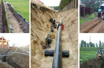 На какую глубину закапывать водопроводную трубу в частном доме.